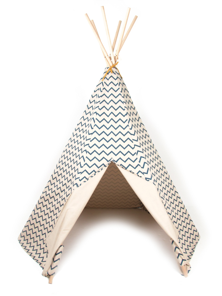 nobodinoz tipi zelt zig zag blue puenktchen. Black Bedroom Furniture Sets. Home Design Ideas