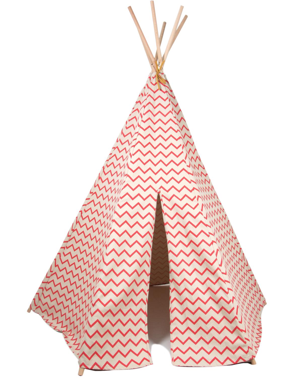 nobodinoz tipi zelt zig zag pink puenktchen. Black Bedroom Furniture Sets. Home Design Ideas