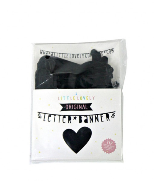 A little lovely Company Letter Banner Black