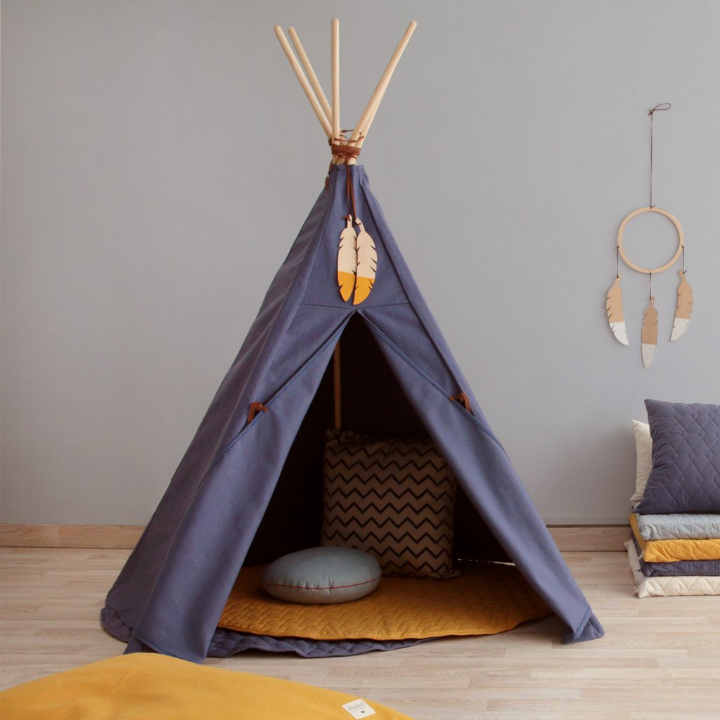 nobodinoz tipi zelt nevada aegean blue puenktchen. Black Bedroom Furniture Sets. Home Design Ideas