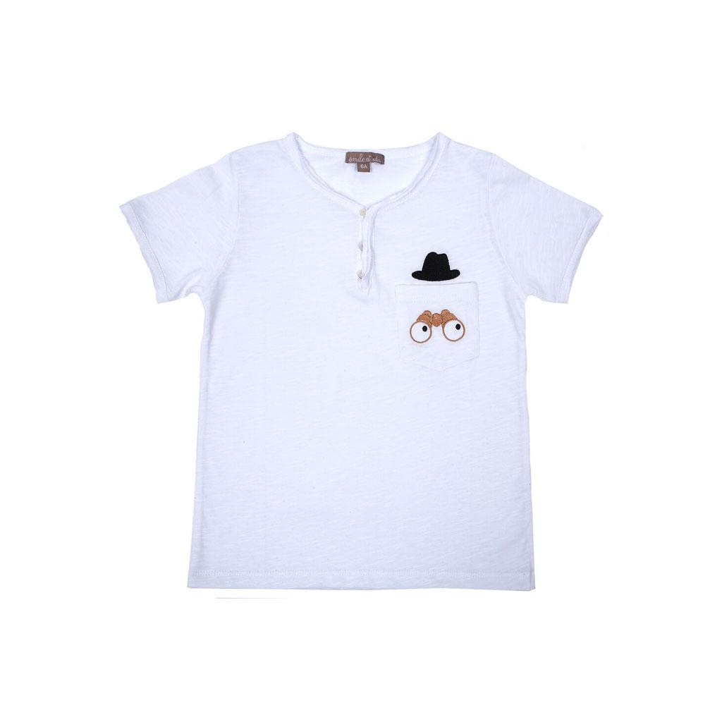 emile et ida t shirt mit tunesischem kragen blanc jumelle. Black Bedroom Furniture Sets. Home Design Ideas