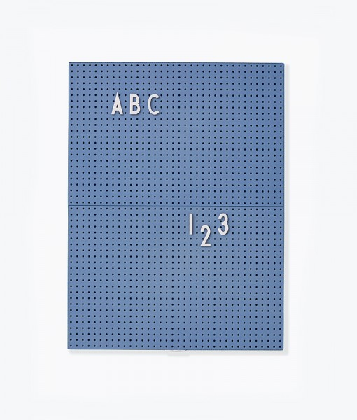 Design Letters Message Board blau