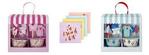 Cupcake-Kits und Pastell-Servietten für Babypartys