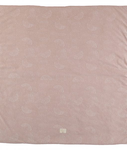 Nobodinoz Colorado Spielteppich Matratze in White Bubble:Misty Pink