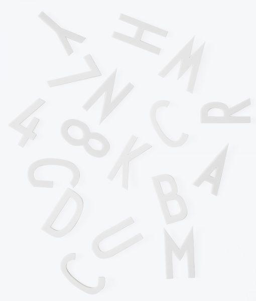 Design Letters Buchstabenbox weiß groß