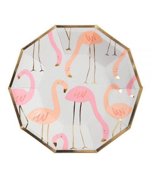 meri meri pappteller flamingo