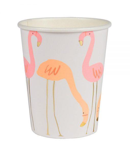 meri meri pappbecher flamingo